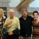 Michela Rizzo, Tony Cragg, Adriano Berengo and Susan Scherman at Ca' Pesaro Venice